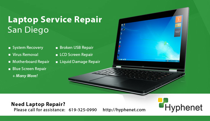 Laptop Liquid Damage Repair Service San Diego
