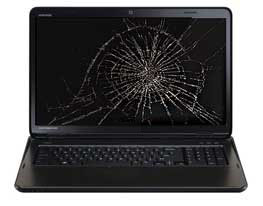 Toshiba cracked laptop screen repair San Diego