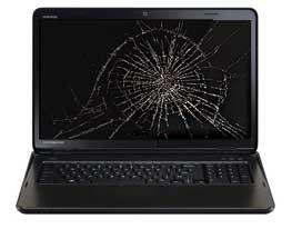 Toshiba cracked laptop screen repair San Diego