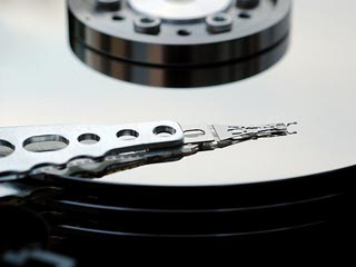 photo of data backup on a hard drive