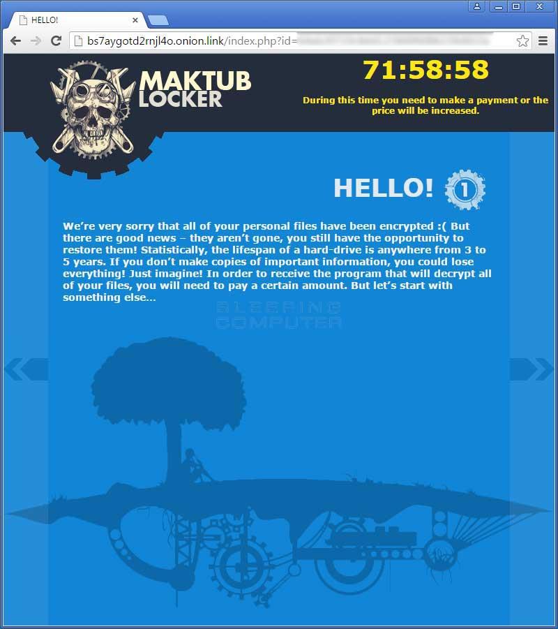 Maktub Locker Ransomware Screenshots #3