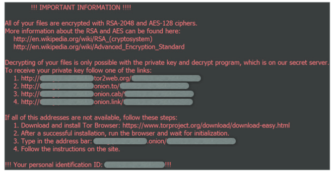 locky ransomware screenshot encryption