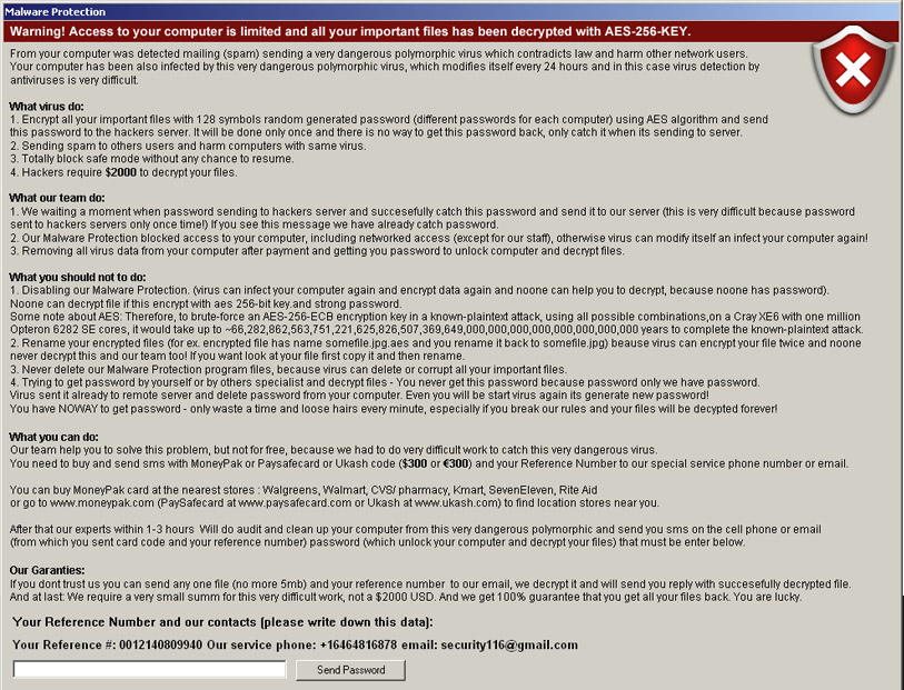 bad English ransomware screenshot