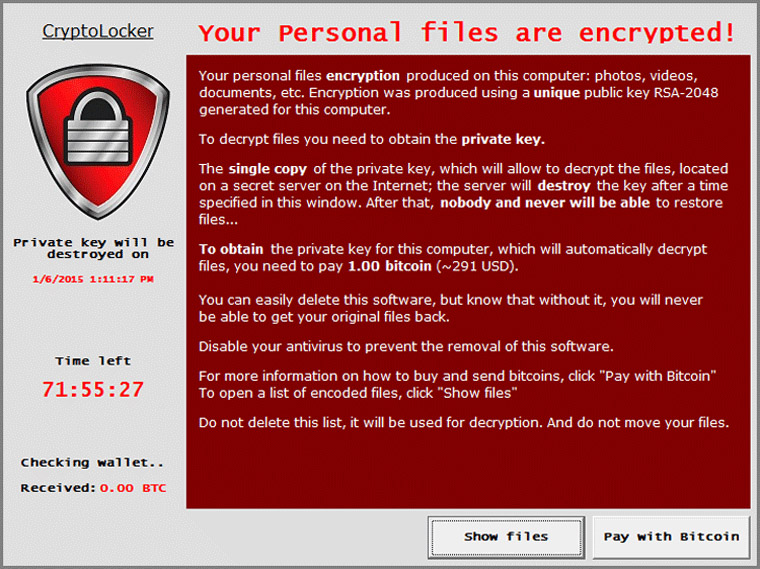cryptolocker screenshot