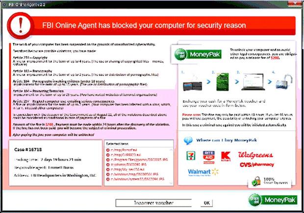fbi online agent has blocked your computer