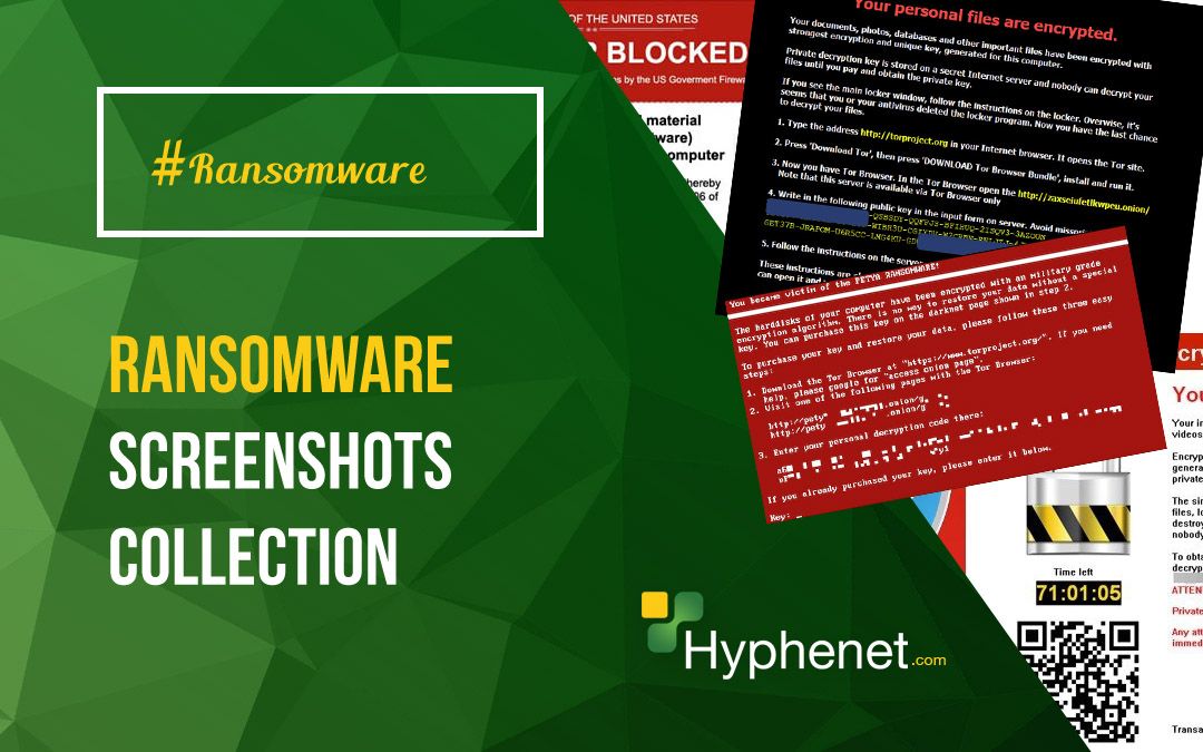 Ransomware Screenshot Collection – Ransomware Examples