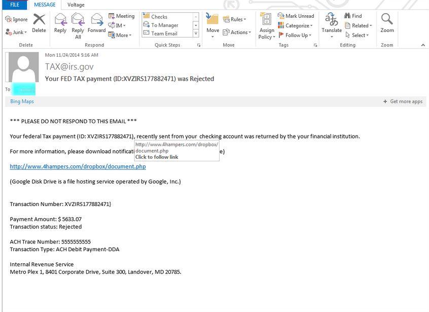 irs phising scam