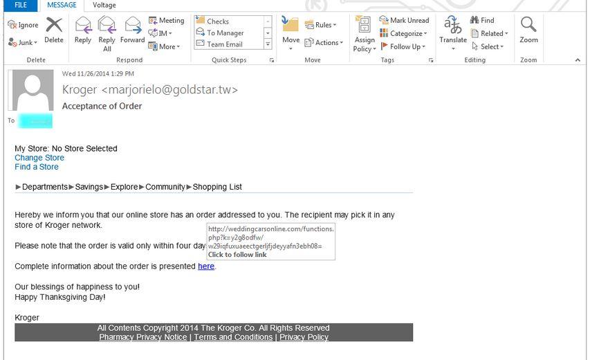 kroger phishing scam