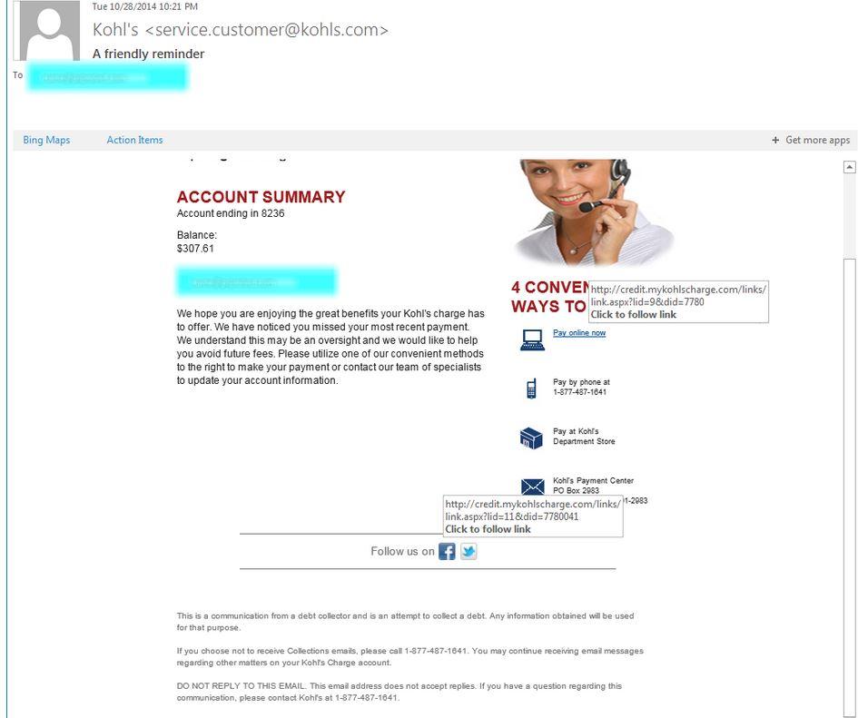 phishing email example 6
