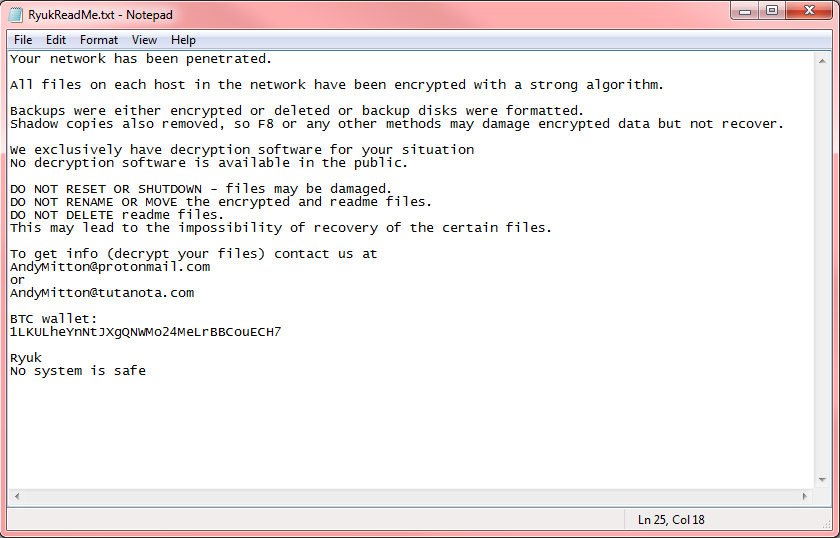ryuk ransomware screenshot
